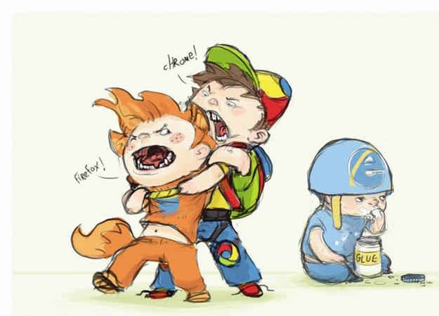 And then it was a straight fight between Firefox and Chrome, with IE sat idly in the corner.