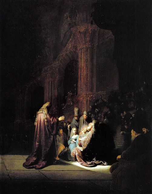 'Simeon's Song of Praise' (1631) by Rembrandt (The High Museum, Temporary Exhibition, Atlanta, GA)