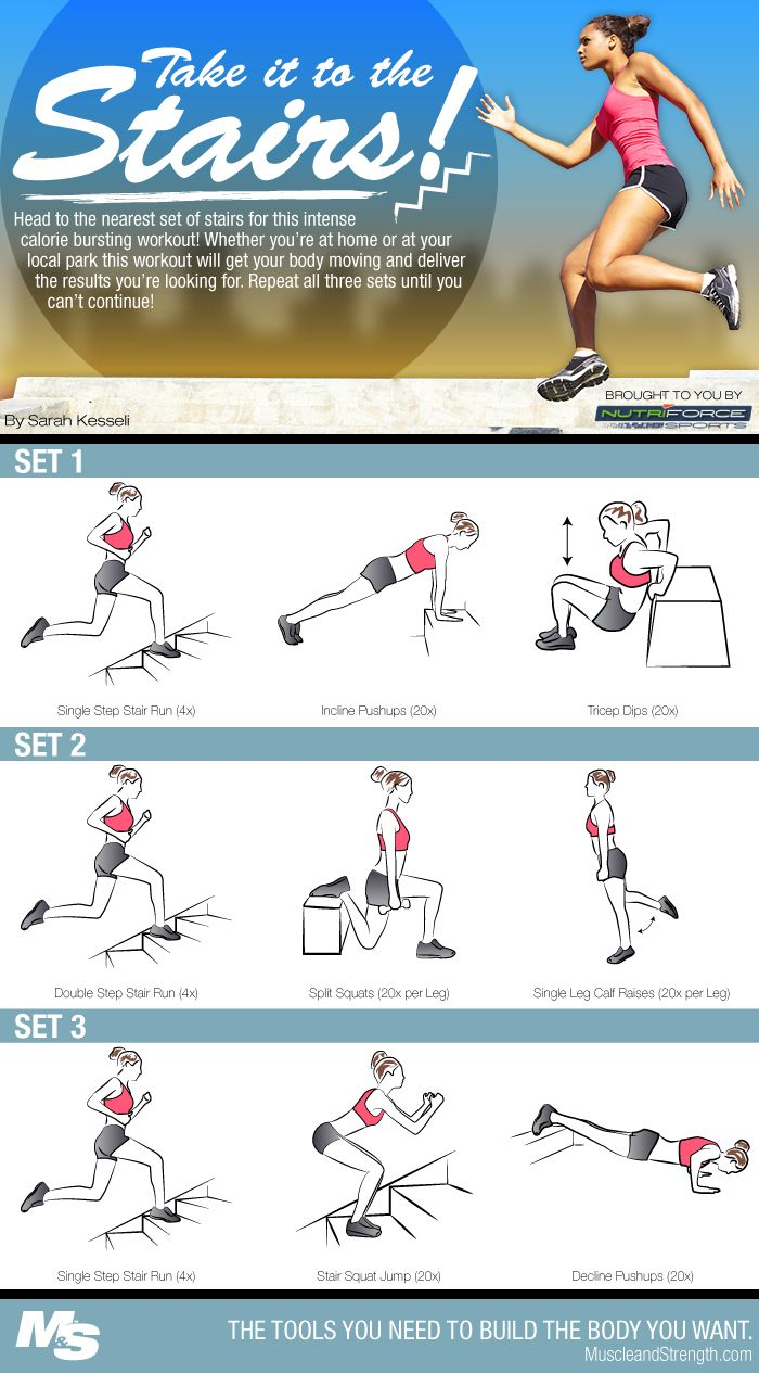 Stair workout: a great workout when confined to indoors with limited equipment