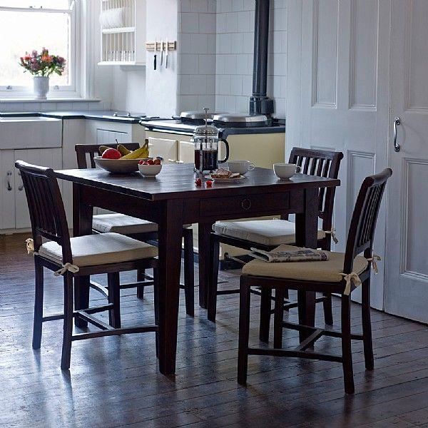 Dark Stain Glam Dining Room Set