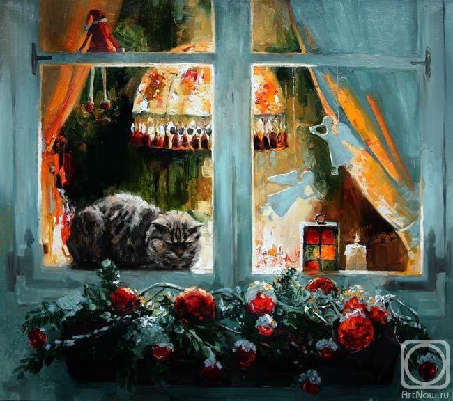 Завтра наступит Рождество. Artist: Maria Pavlova (St. Petersburg, Russia) Художник Мария Павлова.