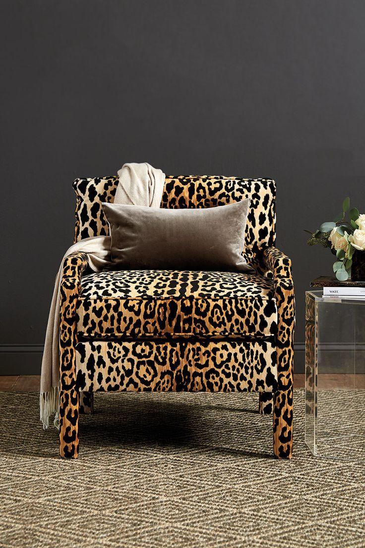 Ballard Designs Winter 2017 Collection Leopard Print Chair Printed Chair Leopard Print Furniture #print #chairs #living #room