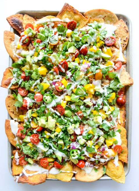 crispy carnitas oven nachos I howsweeteats.com