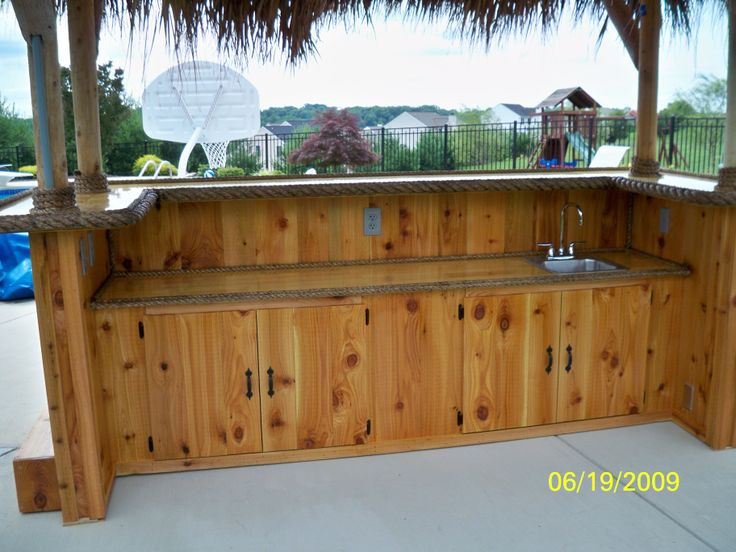 Bel Air Md Back Of Bar 10 X 4 Custom Red Cedar Tiki
