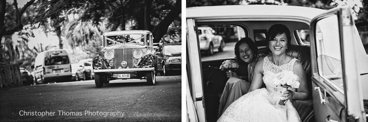 Cool Wedding Car, Brisbane Wedding Photographer, Christopher Thomas Photography