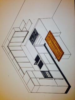 Assonometria cucina - scala 1.20