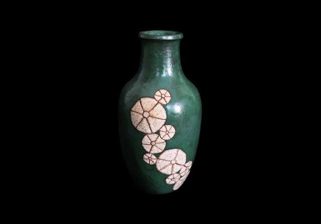 Moderna uma outra nem tanto: Jarra art déco com flores de Raoul Lachenal – Fran...