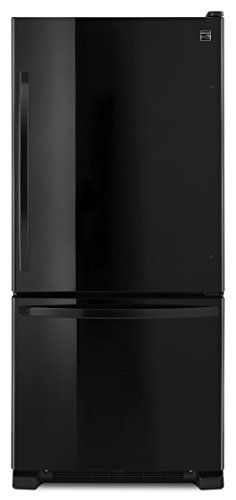 Kenmore 19 cu. ft. Bottom Freezer Refrigerator in Black, includes delivery and hookup (Available in select cities only)