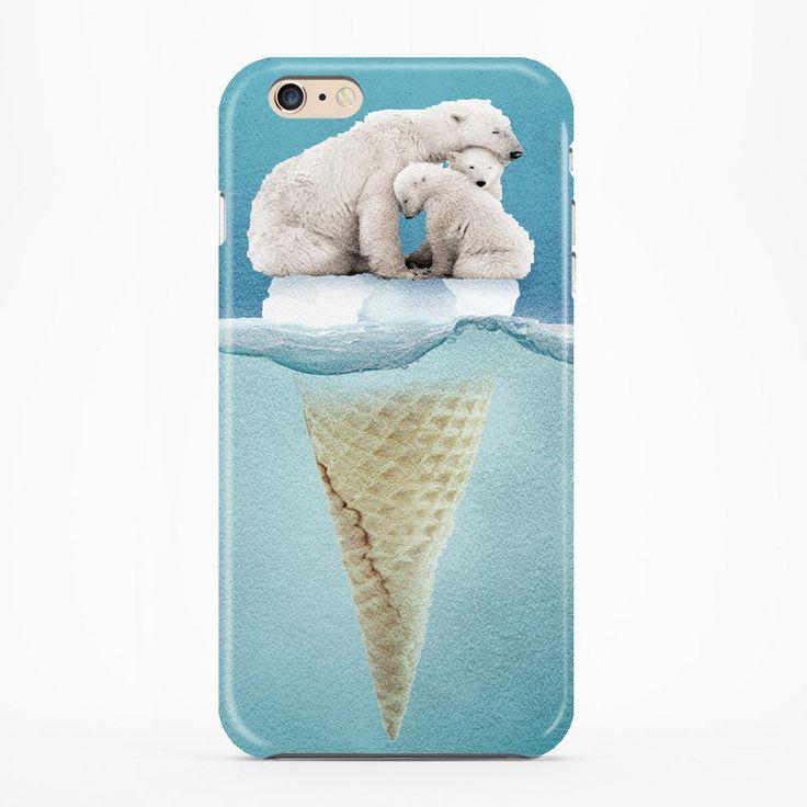 For Iphone 6/6s Case Iphone 6/6s Plus Case Polar Bear Ice Cream Cap Ice Burg