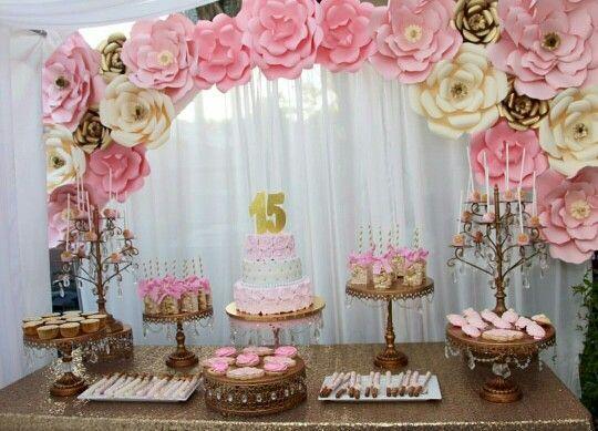 Resultado de imagen para decoracion mesa principal de 15 for Mesas decoradas para 15 anos