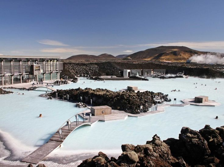 Just a short drive from the airport is the famous geothermal spa, the Blue Lagoon.