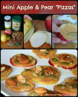 "Manager to Mom: Mini Apple & Pear ""Pizzas"": A Fun & Healthy Snack! {Recipe}"