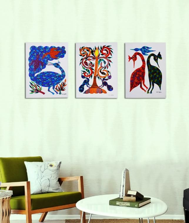 Buy Life of the Tribe  Bhil Tribal Art from Central India Online at Jaypore.com