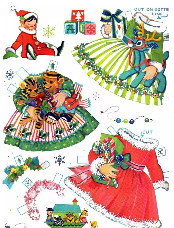 §§§ : Little Miss Christmas and Holly Belle ✄ cut outs : 1965: Paperdoll, Kathleen Taylors, Dolls Clothing, Christmas Outfits, Vintage Paper Dolls, Holly Belle, Cata-Vento Of Papell, Taylors Dakota, Dakota Dreams