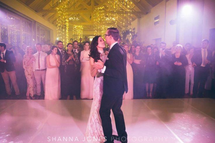 Marelize & Helgard winelands wedding - the aleit group  Winelands wedding. Bride and grrom. First dance. Dance floor. Special lighting. Wedding photos. Shanna Jones Photography. Franschhoek. South Africa.