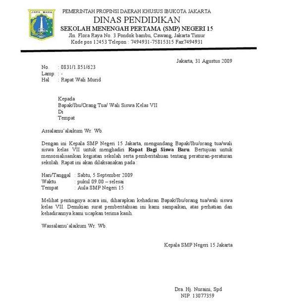 Pengertian Surat Dinas Sekolah Sekolah Menengah Pendidikan