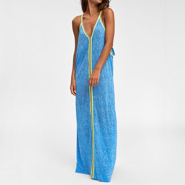 Inca Blue Maxi Dress Coverup