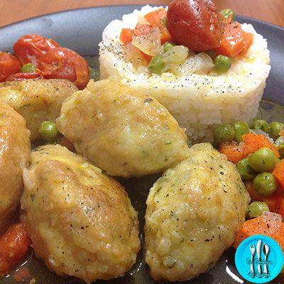 Albóndigas de bacalao en salsa