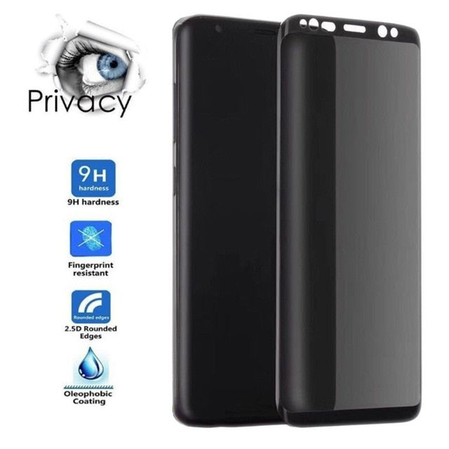 3d Full Curved Anti Spy Tempered Glass For Samsung Galaxy S9 S8 Plus Note 8 9 Protect Privacy Screen Protector Gla Samsung Galaxy Phone Screen Protector Galaxy