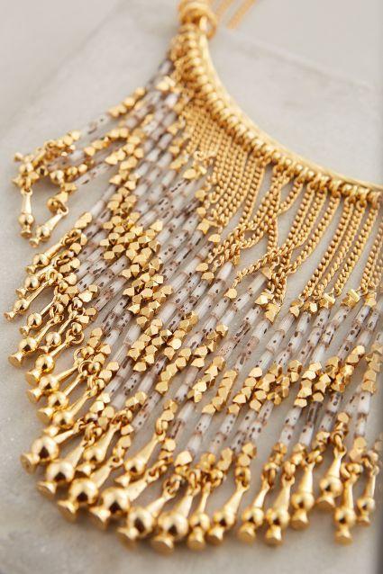 Luminescent Fringe Necklace - anthropologie.com