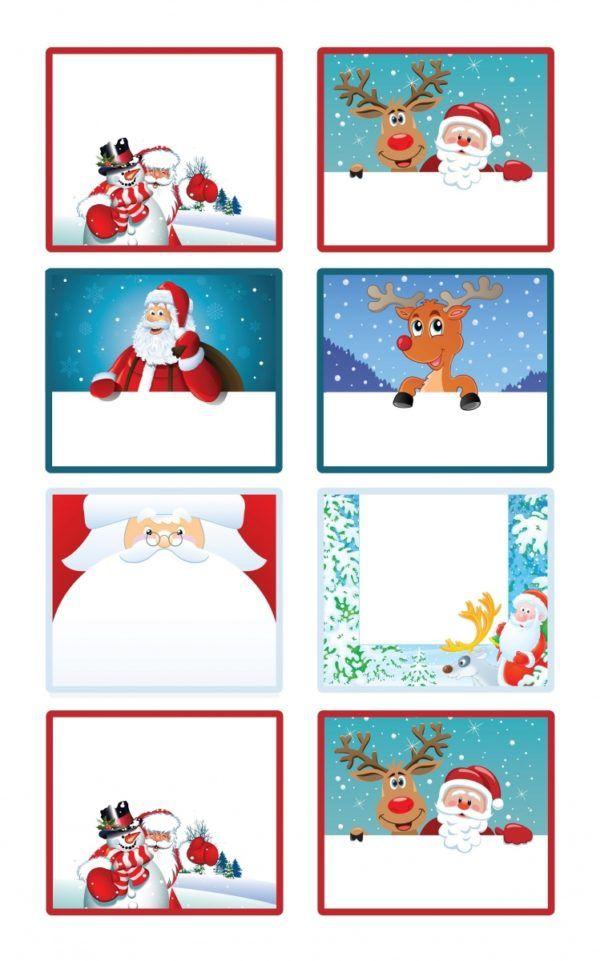 Étiquettes de Noël à imprimer pour les cadeaux à offrir