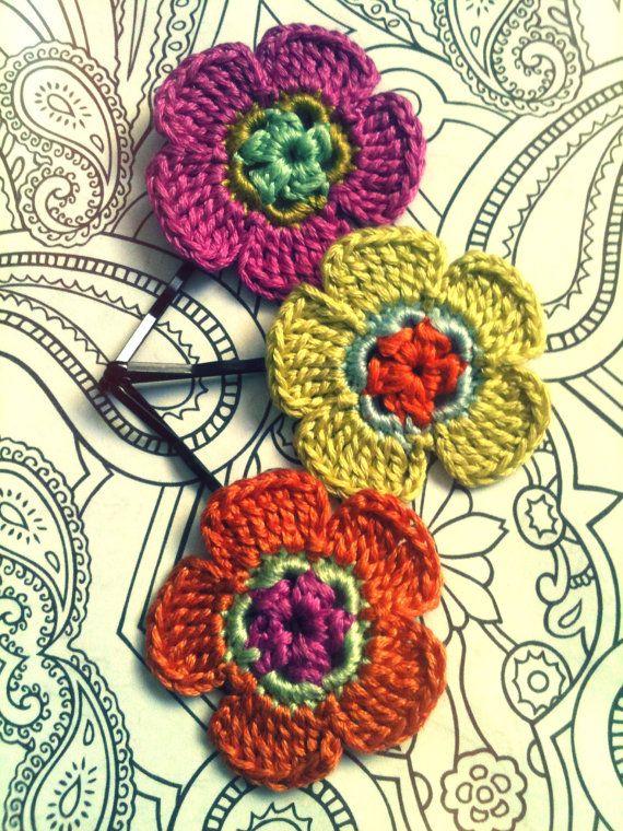 Crochet hair pins!