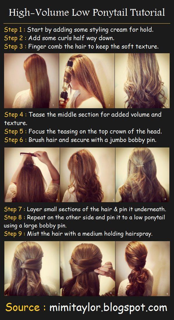 High volume low ponytail