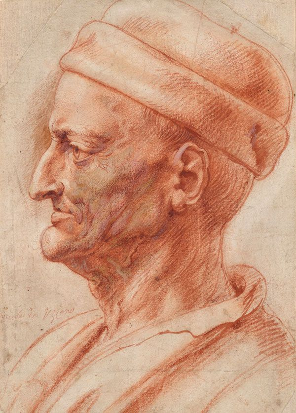 "Peter Paul Rubens | 1577-1640 | Profile Head of an Old Man (""Niccolò da Uzzano"")"