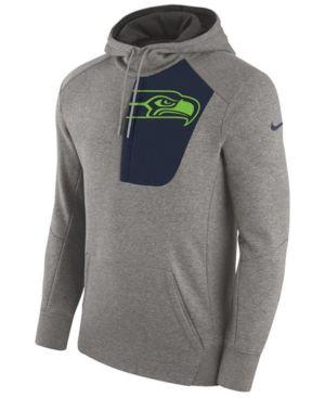 Nike Men's Seattle Seahawks Fly Fleece Hoodie - Gray XXL