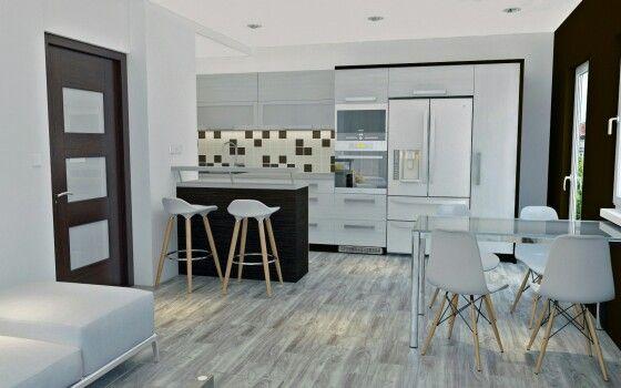 Návrh kuchyňské linky #dbdesign #kitchen #visualization