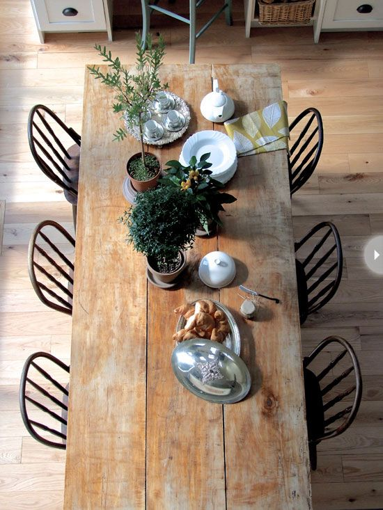 I want this table so bad! It's exactly what I pictured in my mind for our future dining room. I will find it!