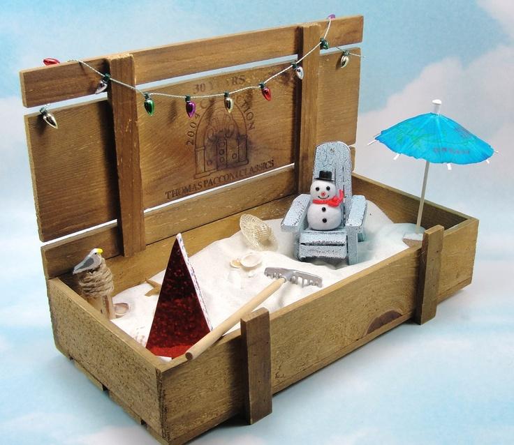 Christmas Miniature Beach In A Box