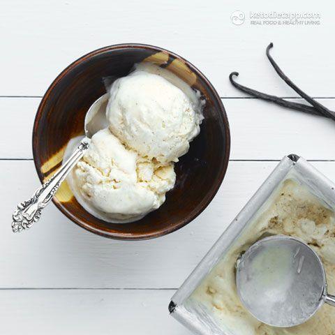 No-churn Vanilla Keto Ice-cream (low-carb, primal/ paleo)