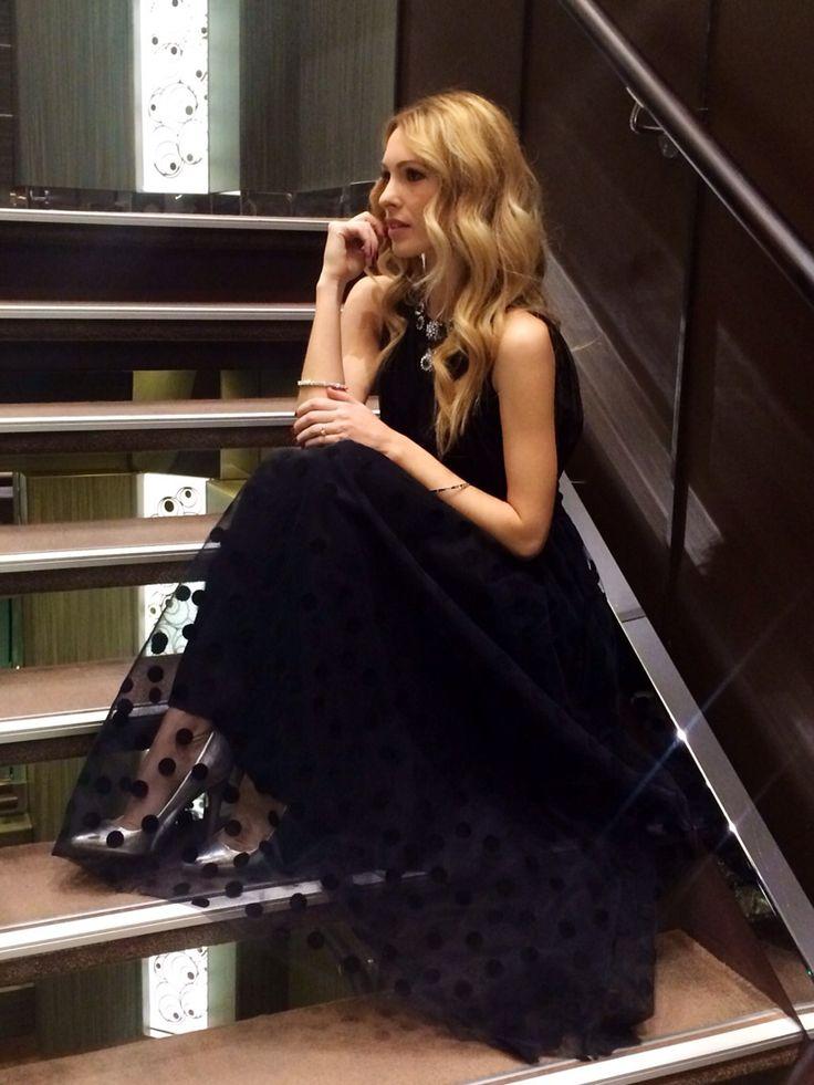 Elena Ramognino wearing Compagnia Italiana long dress #compagnia italiana #fashion #style #glamour #springsummer #springsummer2015 #photo #long #black #dress #longdress #lookmakeracademy #look