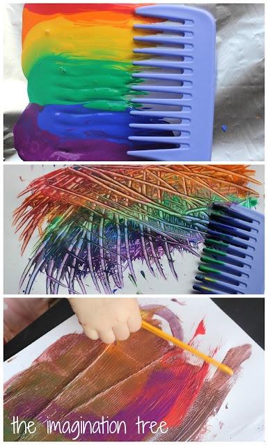 Rainbow Comb Paintings
