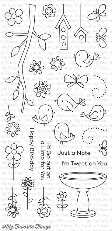 I'm Tweet on You stamp set #mftstamps