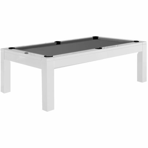 Aragon 7 Foot Dining Pool Table - White - Lifetime Warranty