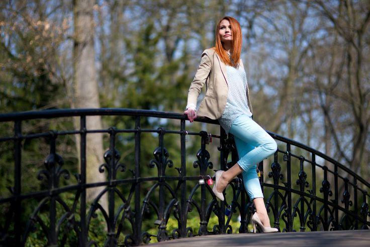 Nieperfekcyjna Pani Domu: Wiosna lubi pastele - błękit.