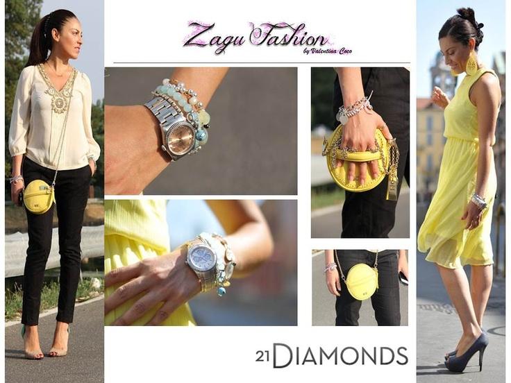Su Zagu Fashion la splendida Sabrina indossa i gioielli dalle marche 21DIAMONDS! Bellissima!