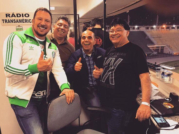 Curtindo o jogo com as feras Marcio Bernardes e Oswaldo Maciel na cabine da Transamérica!!!! Essa dupla é pé-quente!!!!!!