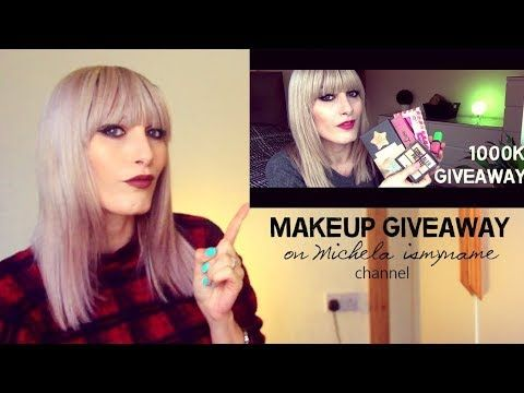 Makeup GIVEAWAY on Michela ismyname channel | OPEN