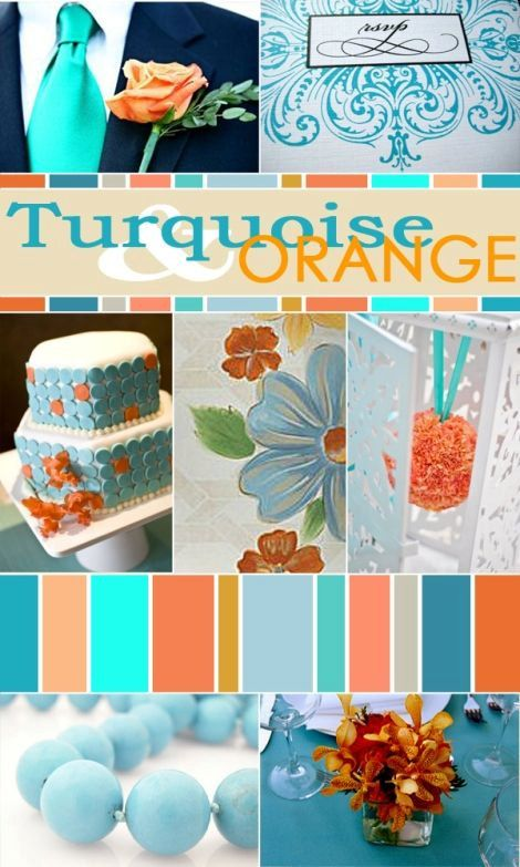 Color Palette: Turquoise and Orange