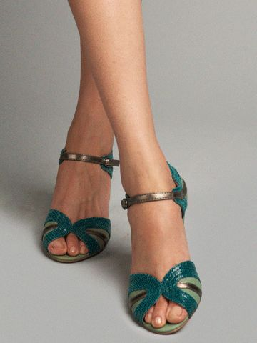 I think this is too much color and that they would clash with my dress, but they are cute! Seychelles Footwear