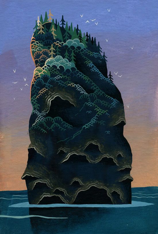 Mysterious Islands | Illustrator: Yvan Duque | Via: The Fox Is Black