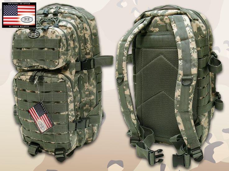 Az Amerikai hadsereg Assault I. hátizsákja, digitális terepmintázattal. 20 literes közepes méretű túrazsák, rövidebb 1-2 napos túrákhoz tökéletes választás lehet az Assault I hátizsák. Kényelmes, praktikus, sokoldalú...rengeteg tároló rekesszel és zsebekkel!
