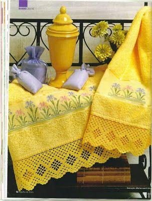 Crochê Compartilhado: Barrados para Toalhas de Banho