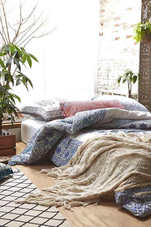 ☆ Bohemian bedroom via Urban Outfitters