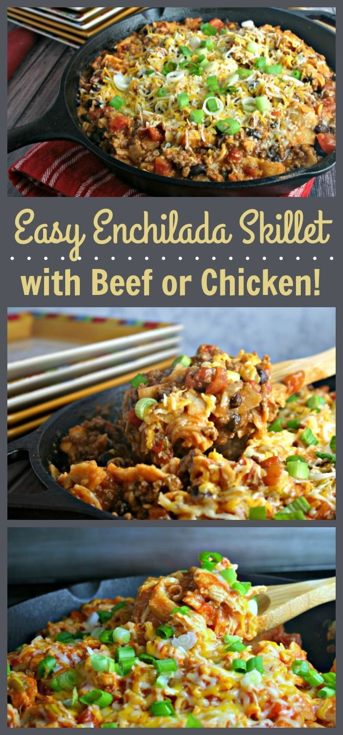 You'll love this versatile enchilada skillet recipe that can be made with…