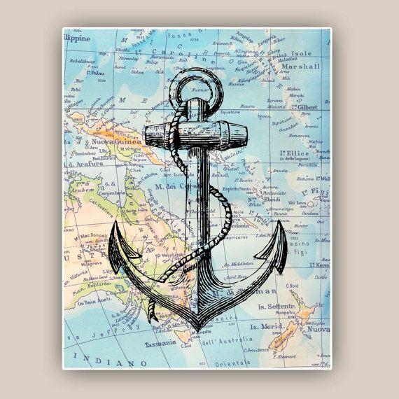 Nautical Prints Lighthouse anchor sailor knots scuba by PrintLand