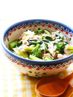 人気の簡単小松菜レシピ「豚肉小松菜あんかけ丼」